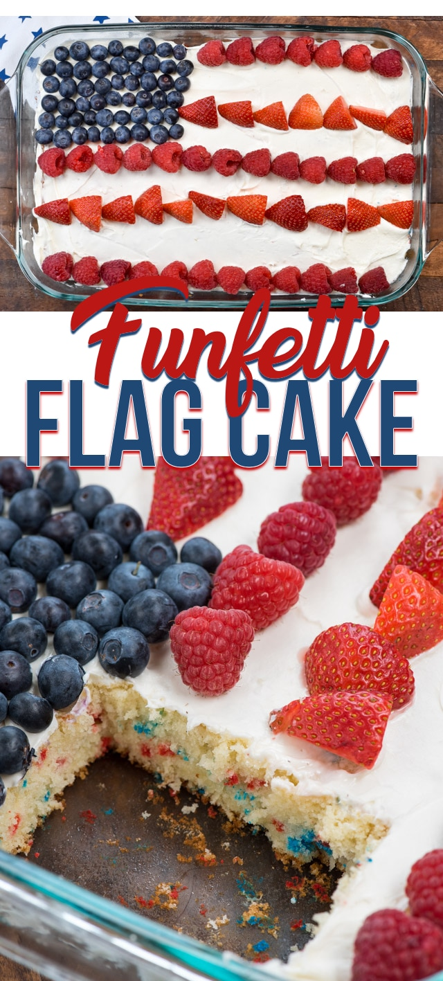 flag cake collage