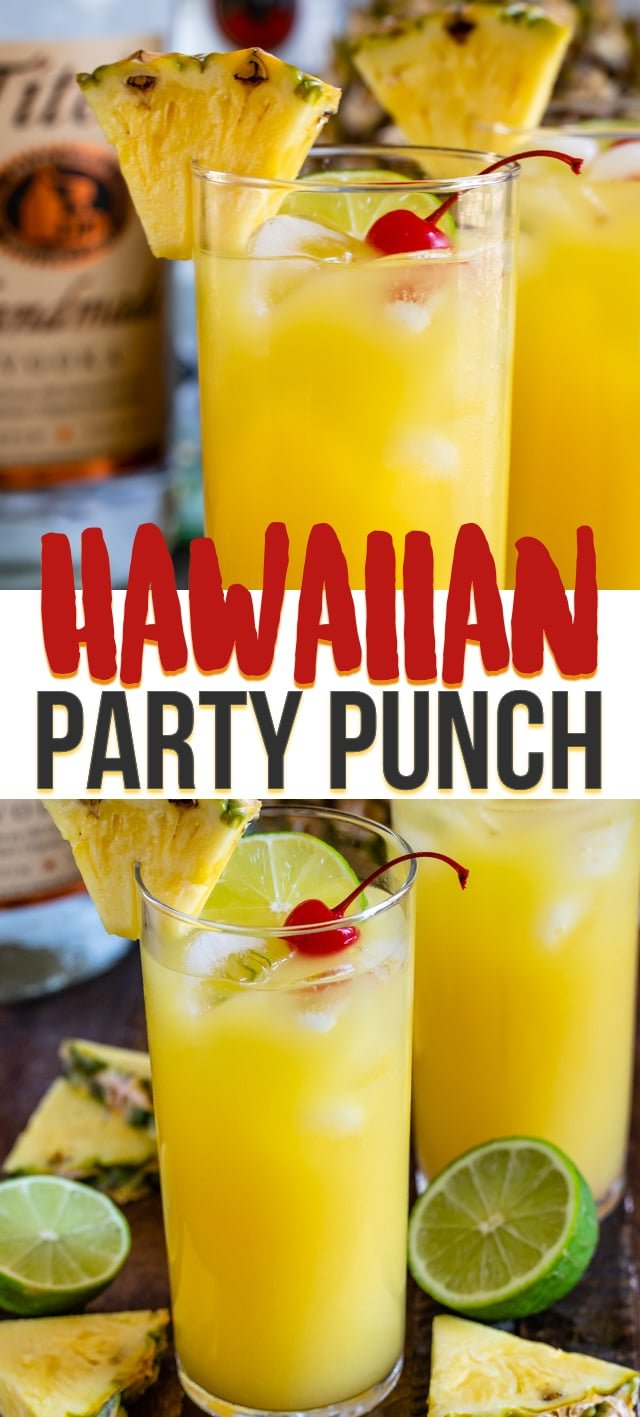 hawaiian party punch in glass