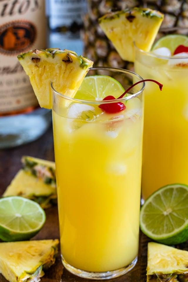 hawaiian vodka party punch in glass