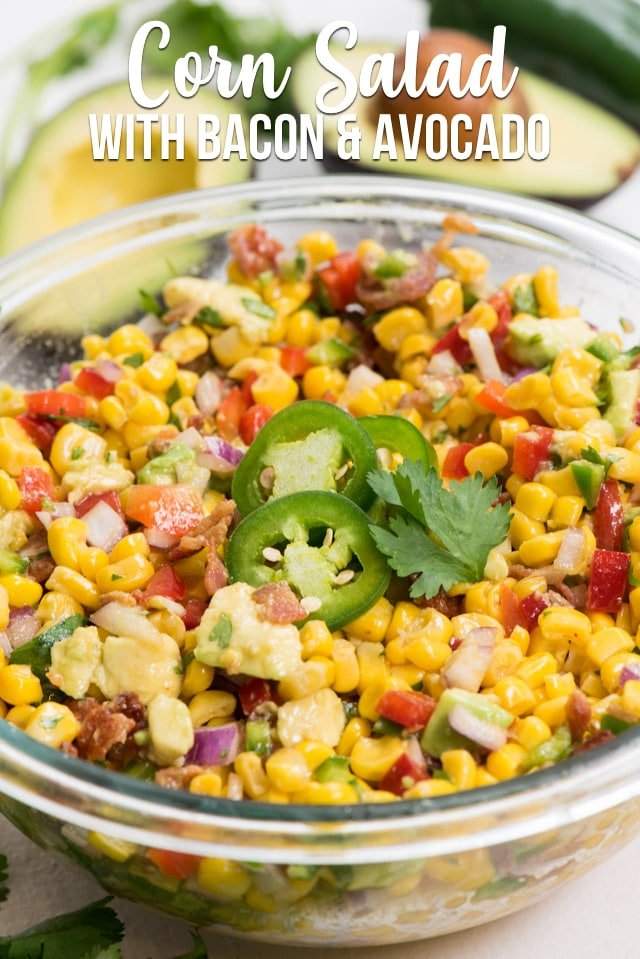 corn salad in bowl