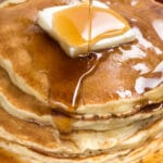 stack of the best fluffy pancake recipe pancakes