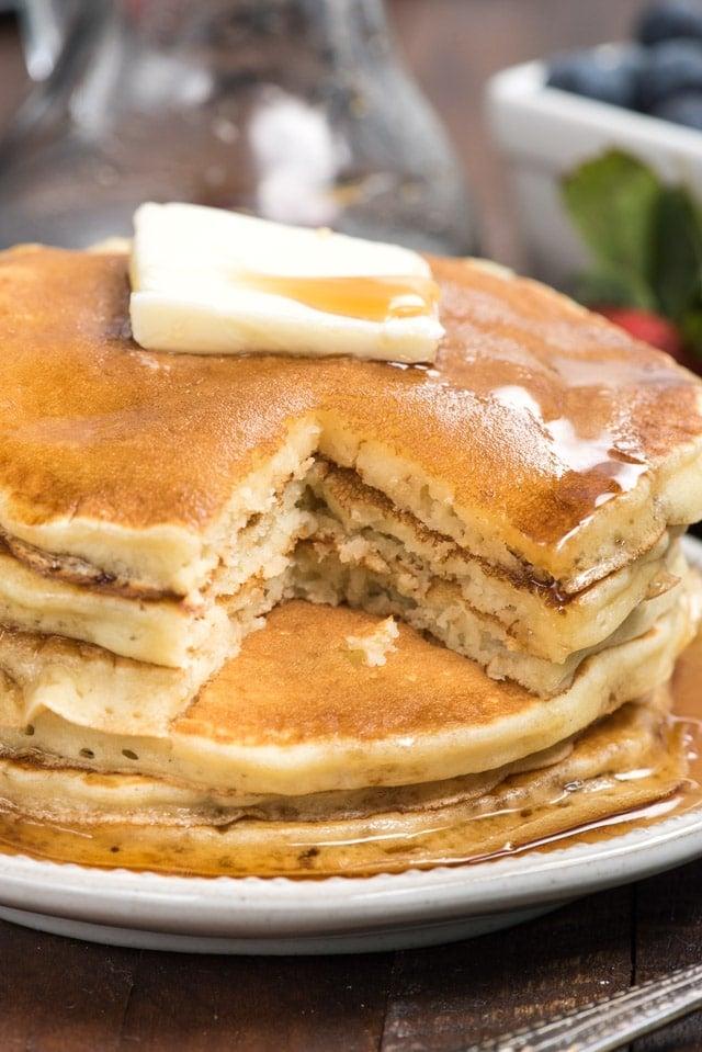 Fluffy homemade pancake recipe