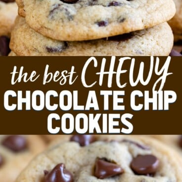 collage of chewy cookie photos