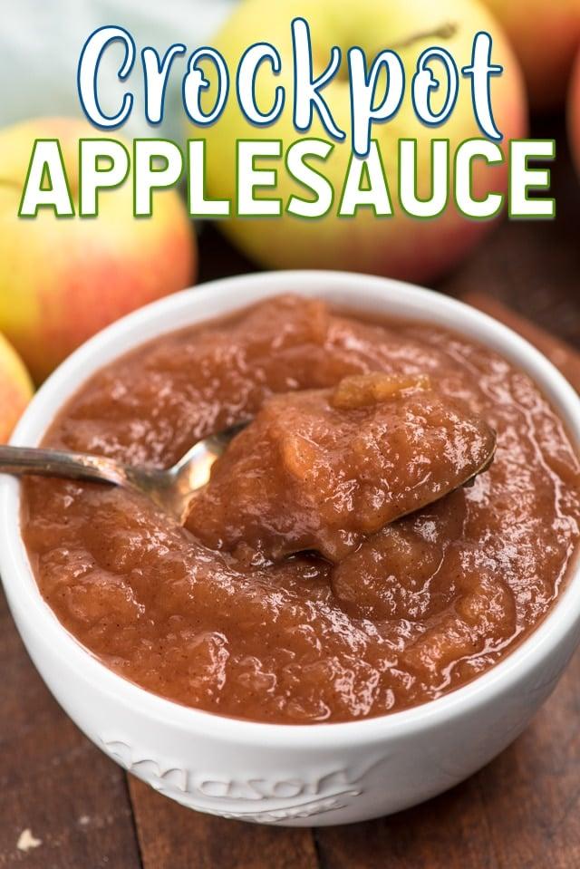crockpot applesauce in bowl