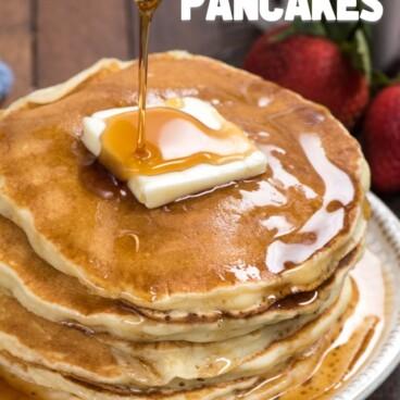 stack of fluffy pancake recipe pancakes