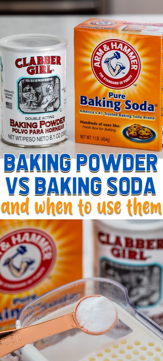 Baking Powder vs Baking Soda in baking - Crazy for Crust