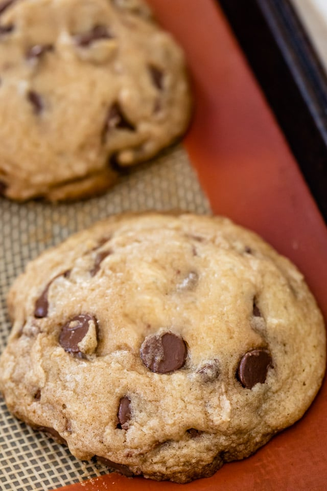 This is a perfectly done cookie right out of the oven