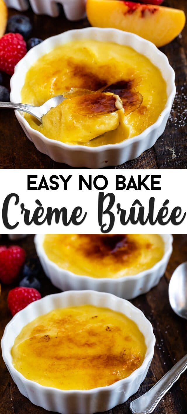collage creme brûlée photos