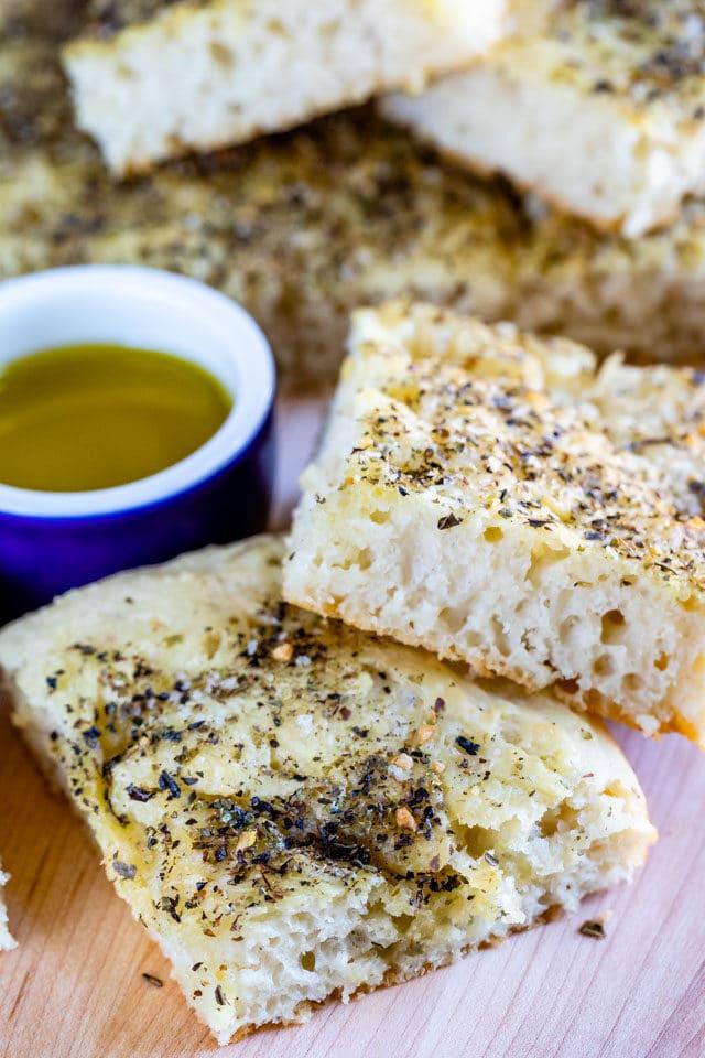 Easy No Knead Focaccia Bread recipe