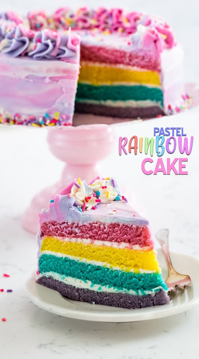 Magnificent Pastel Rainbow Cake Crazy For Crust Funny Birthday Cards Online Inifodamsfinfo