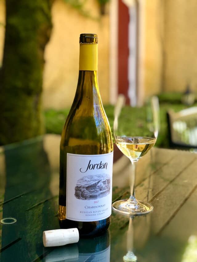 bottle of Jordan chardonnay