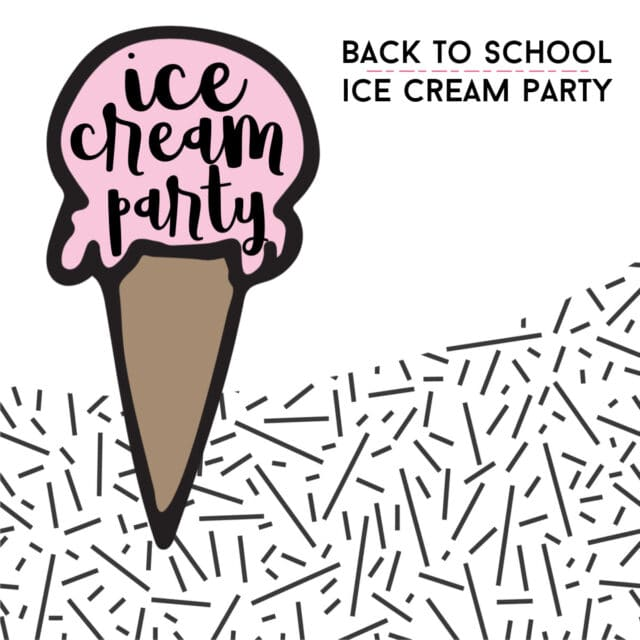 free ice cream party invitation