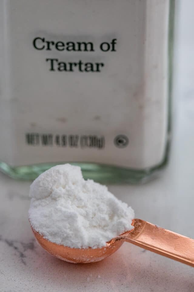 cream of tartar in measuring spoon