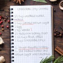how to read a recipe graphic