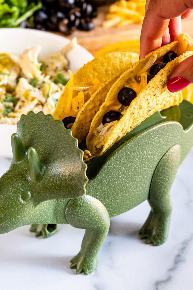 taco in dinosaur