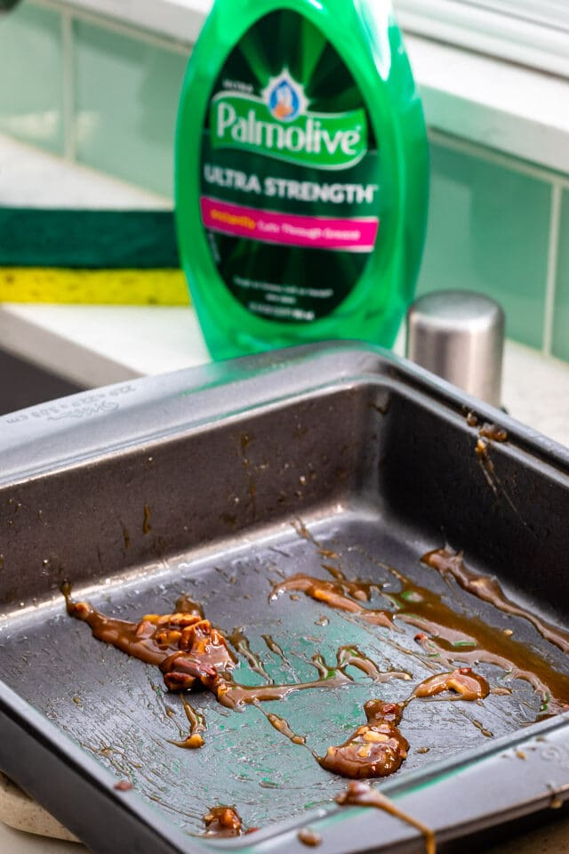 Palmolive bottle with messy pan