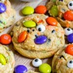 halloween cookie with M&Ms