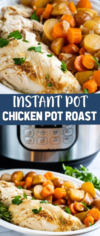 chicken pot roast collage photos