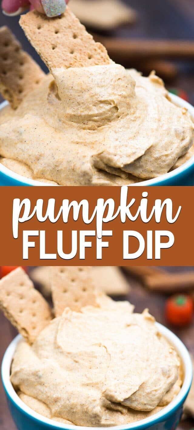 collage of pumpkin fluff photos