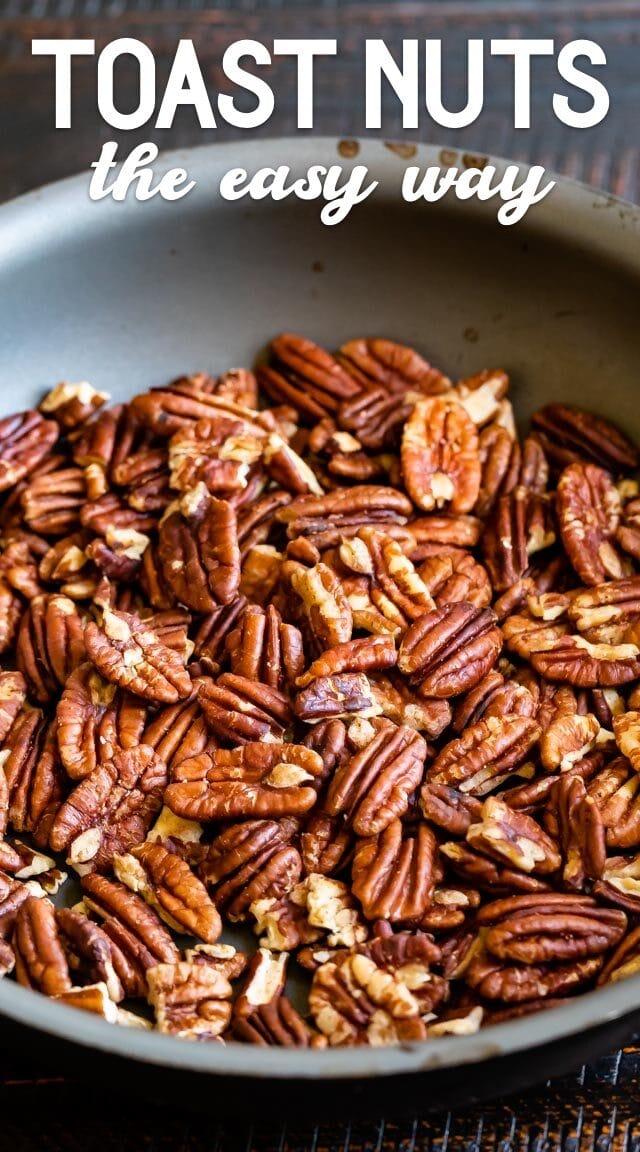 nuts in pan