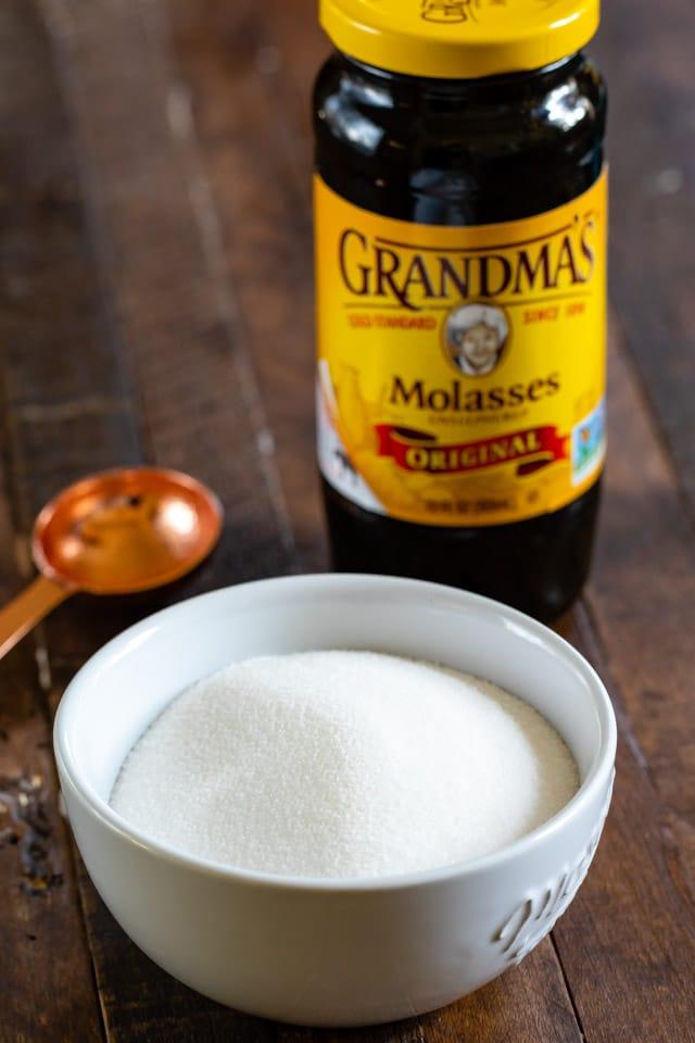 sugar and molasses