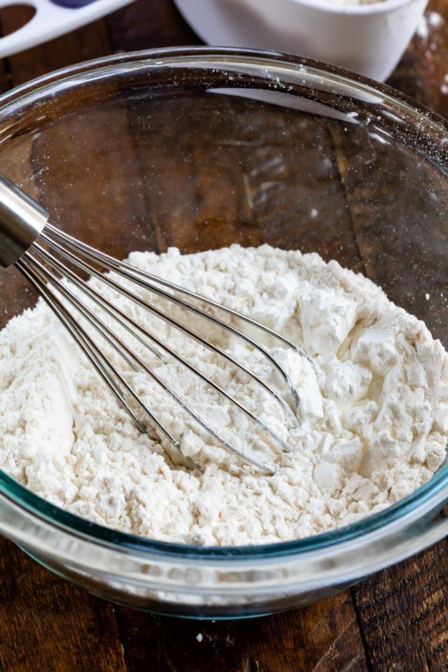 cake flour in bowl