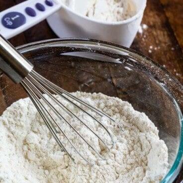 cake flour substitute in bowl
