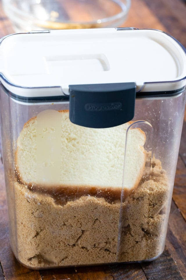 brown sugar in container with bread