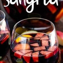 red sangria in wine glass
