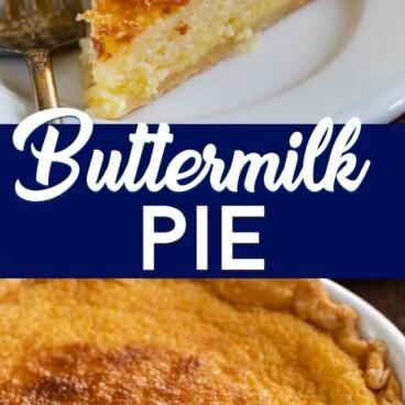 collage of buttermilk pie recipes