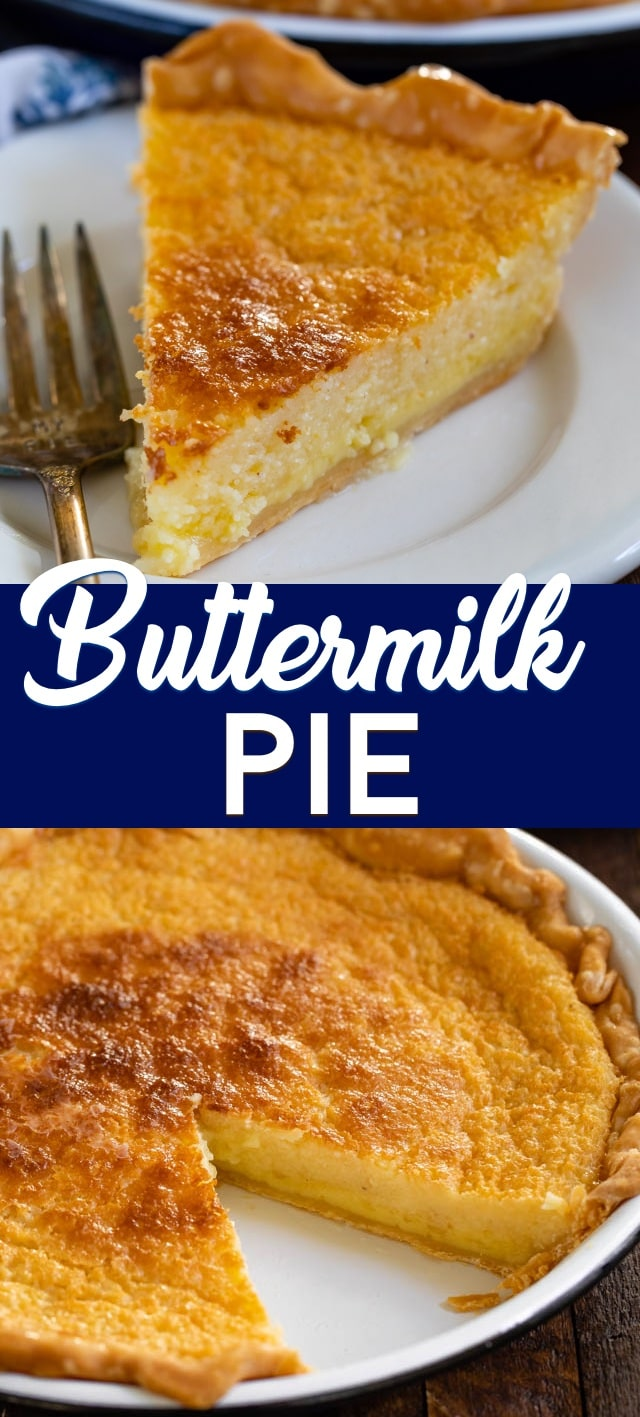 collage of buttermilk pie recipes