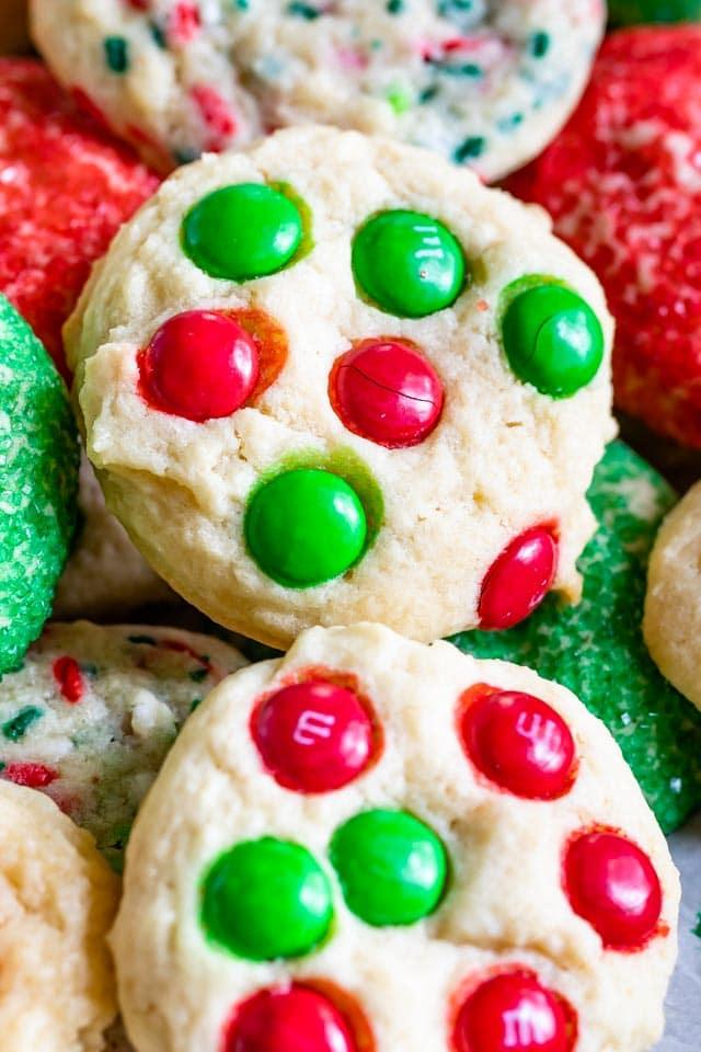 Drop cookies m&ms