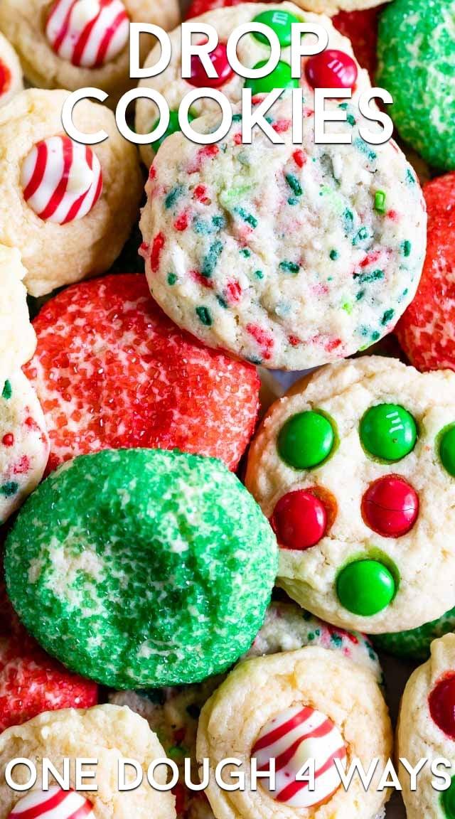 Drop cookies one dough 4 ways
