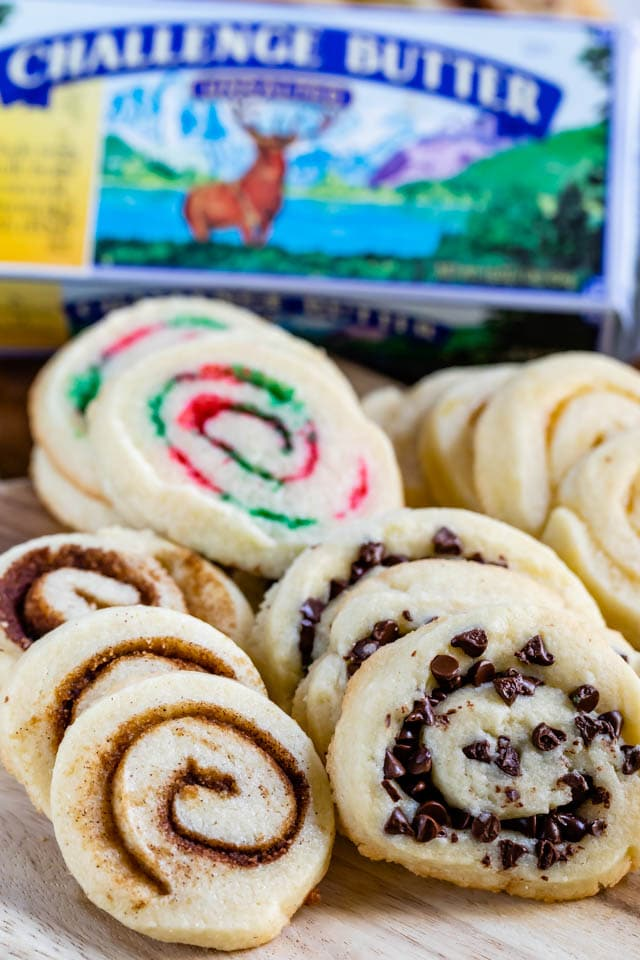 pinwheel cookies with challenge butter box