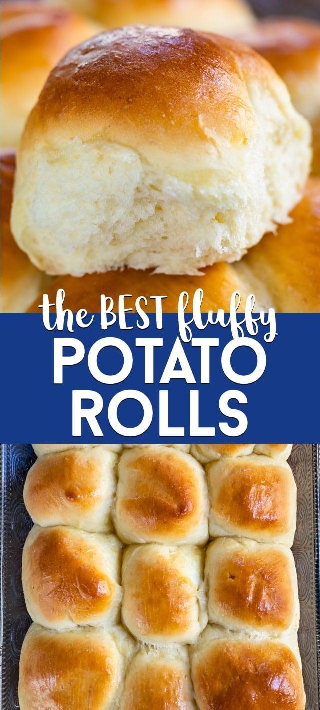 collage of potato rolls