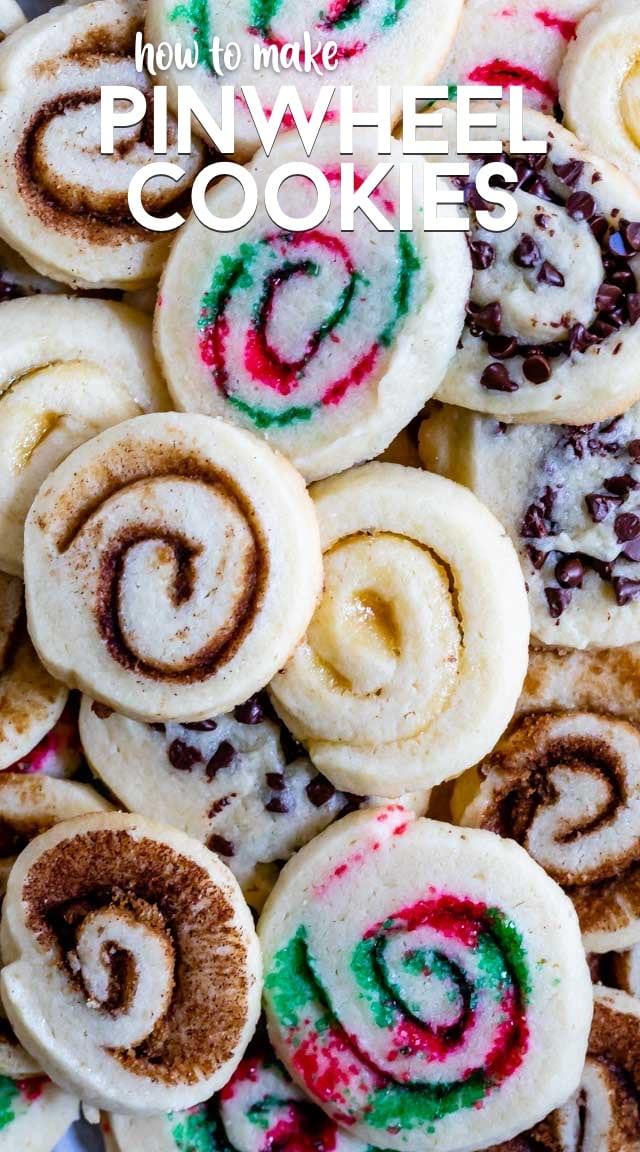 overhead shot of cookies