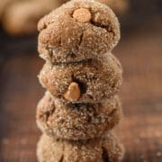 molasses cookies recipe in a stack
