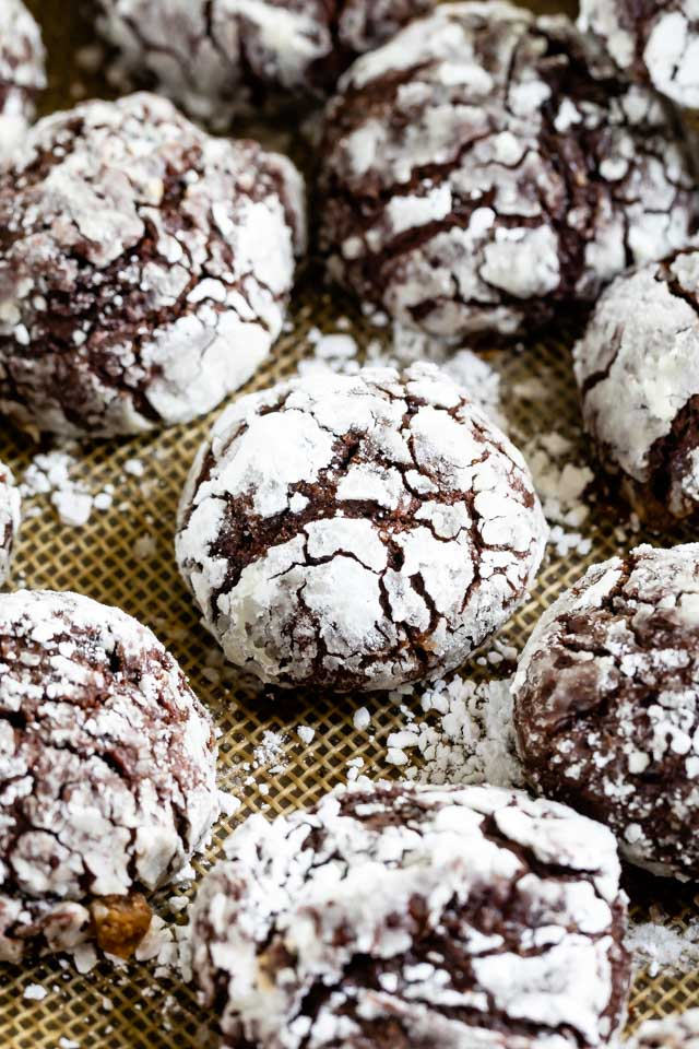 Classic chocolate crinkle cookie
