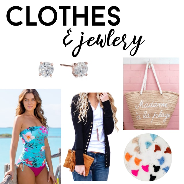 Collage of clothes and jewelry