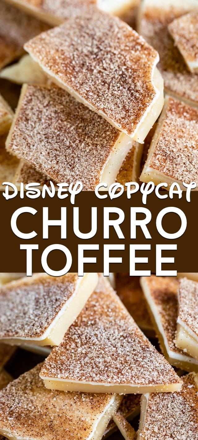 Disney copycat churro toffee collage