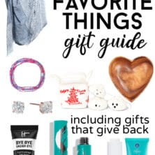 collage of gift guide items