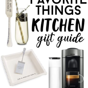 collage of kitchen gifts