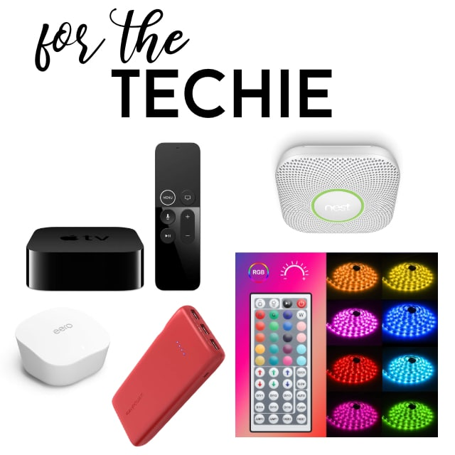 collage of favorite things for the techie