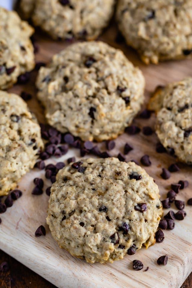 breakfast cookies on cutting board