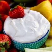 Healthy fruit dip