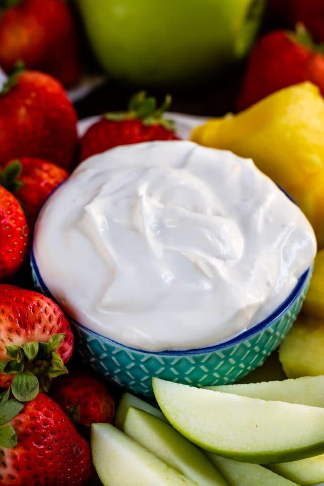 Healthier fruit yogurt dip