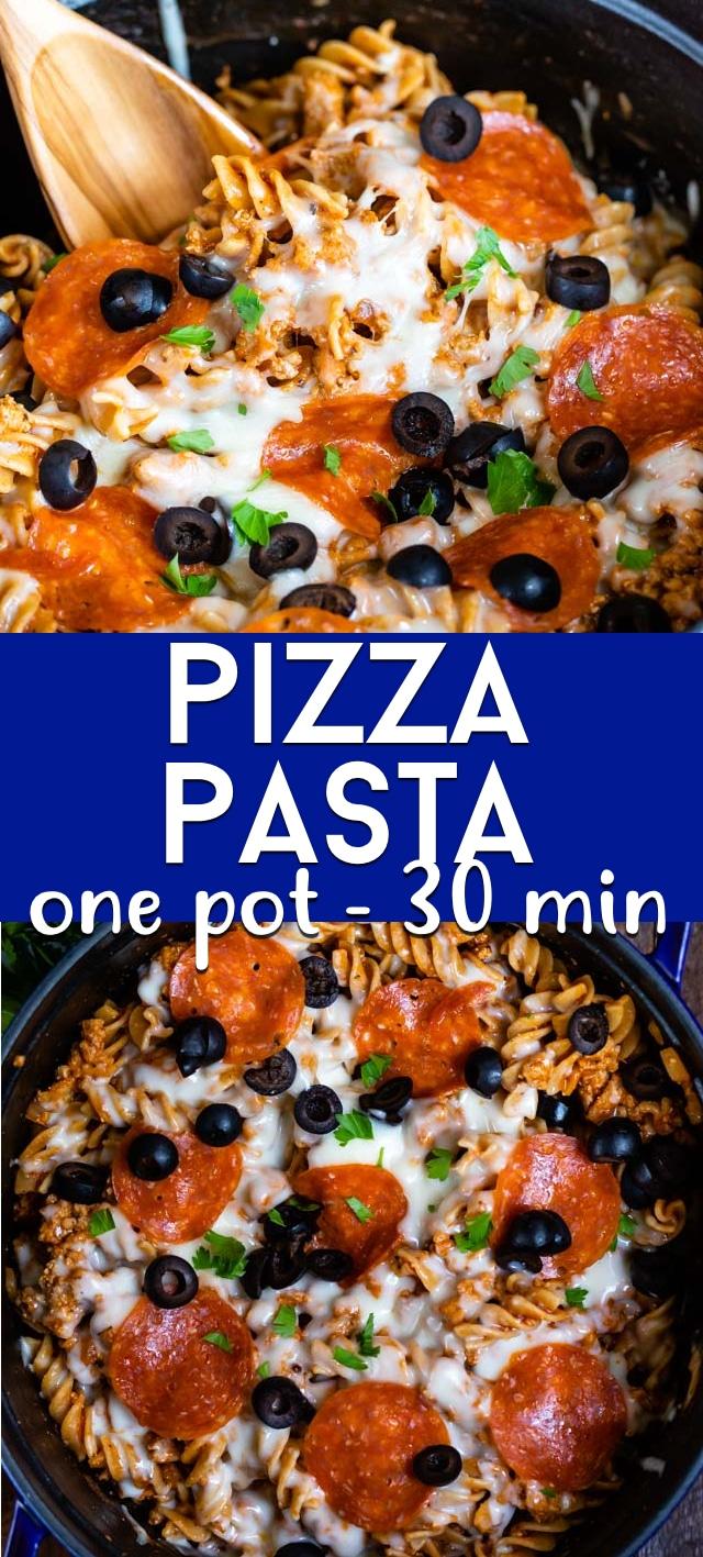Pizza pasta collage