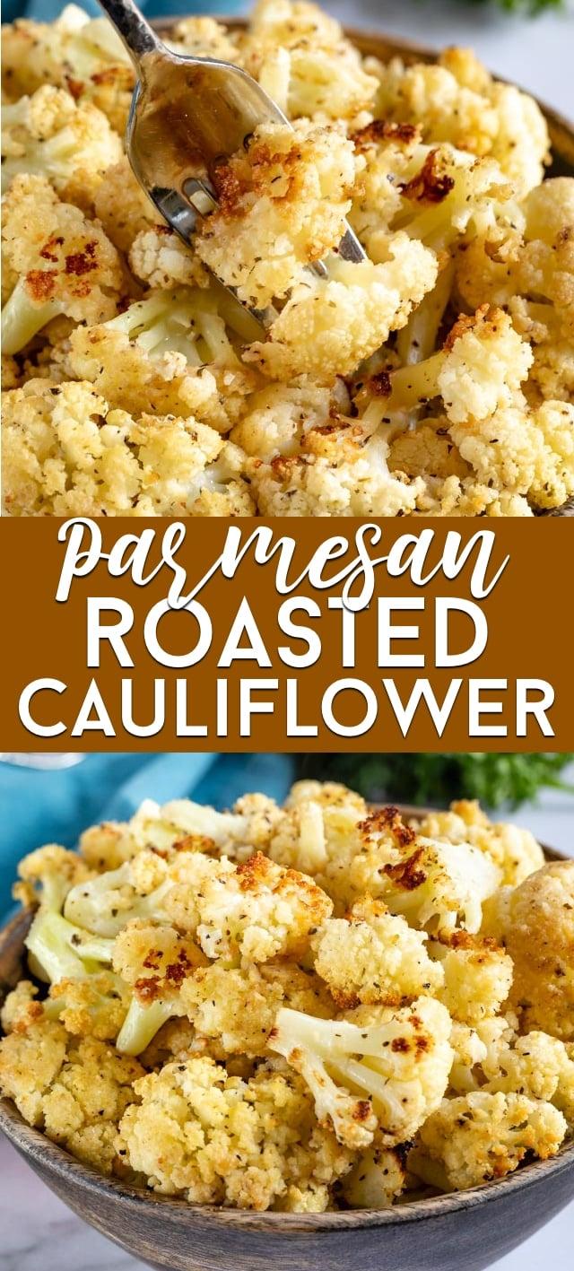 Roasted cauliflower collage