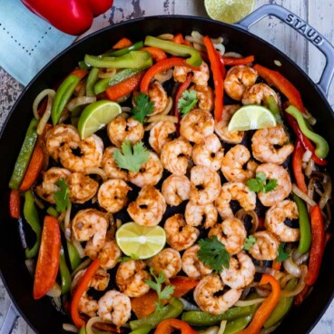 Spicy shrimp with peppers