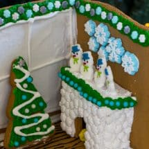 gingerbread cozy fireplace scene